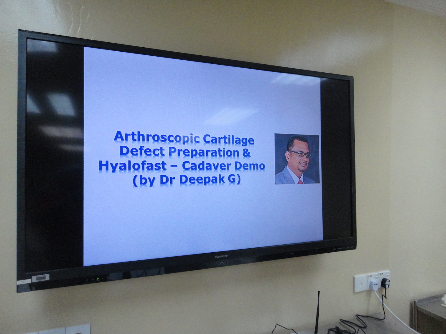 ACRS Cadaveric Workshop 2015, NOCERAL, KL. Demo session 1