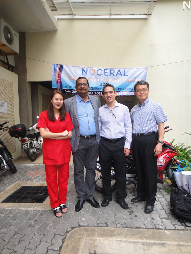ACRS Cadaveric Workshop 2015, NOCERAL, KL. Faculty and WS coordinator Dr Teo