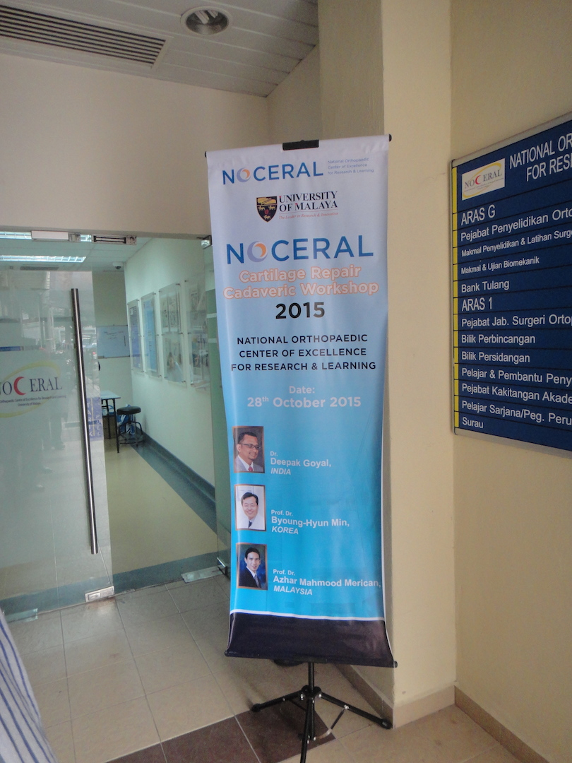 ACRS Cadaveric Workshop 2015, NOCERAL, KL