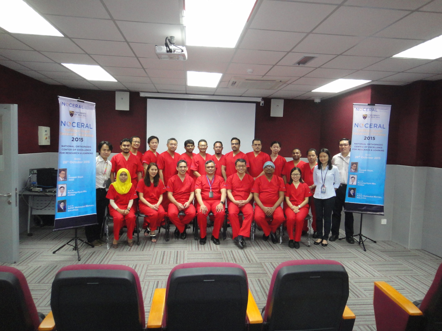 ACRS Cadaveric Workshop 2015, NOCERAL, KL, the team