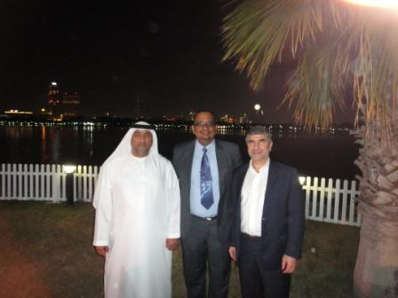 Dr Goyal with Dr Thani and Dr Darwich