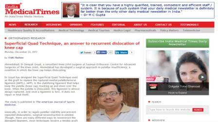 India Medical Times and Deepak Goyal