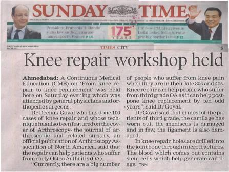 Knee Repair Deepak Goyal